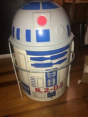 Vintage 1983 STAR WARS R2D2 Toy Box Toter From Return Of The Jedi Movie R2-D2
