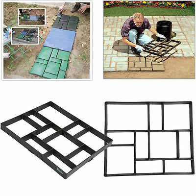 2PACK Driveway Garden Stepping Stone Mold Concrete Paving Pavement Pathway Maker