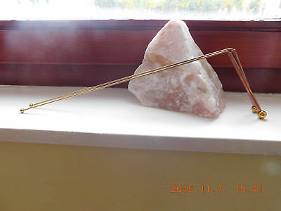 Copper Dowsing Rods 10X30cm with crystal (2 piece), Water Witching, Lost Objects