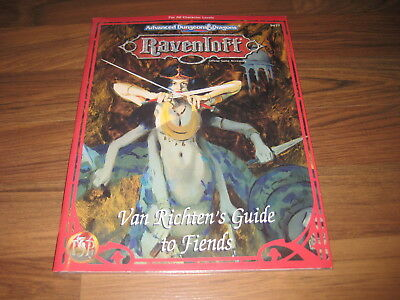 AD&D 2nd Edition Ravenloft RR10 Van Richten's Guide to Fiends TSR 9477 New OVP