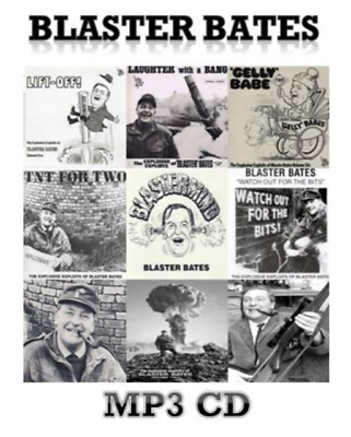Blaster Bates Complete 9 Volume LP Collection 1 x MP 3 CD Audio Comedy