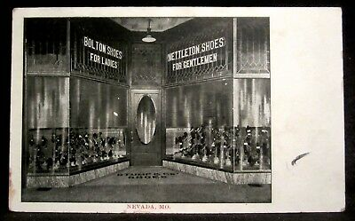 NEVADA, MO, Stump SHOE STORE, Bolton & Nettleton Shoes, Downtown, Missouri 1909