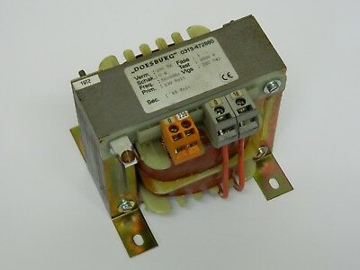 DoesBurg 0313-472880 Transformer 230vac sec 18vac 200va