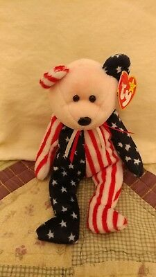 Ty Beanie Baby Babies, Spangle Red Head, 3 Bear Set Available, Mint MWMT