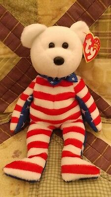 Ty Beanie Baby Babies, White Headed Liberty, Mint MWMT
