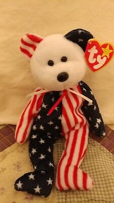 Ty Beanie Baby Babies, Spangle White Head, 3 Bear Set Available, Mint MWMT