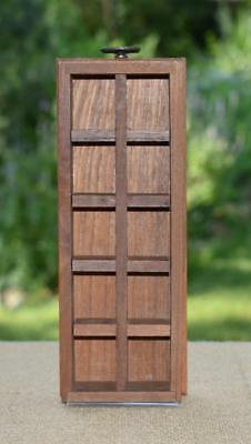 "Vintage Wooden Thimble Knick Knack Wall Display Rack 10 Compartments - 8"" x 3"""