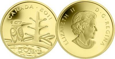 - Boreal Forest canada 2011 - 50 Cents - 1/25 Ounce Pure Gold Coin