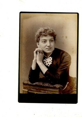 CABINET CARD,Vintage Photo,Pretty Woman,Nice Pose, Willsboro, PA