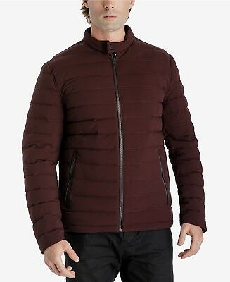 $519 MICHAEL KORS Men RED DOWN QUILTED PUFFER WINTER WARM JACKET COAT SIZE S