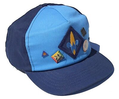 VTG Boy Scouts Cub Scout Webelos Hat Activity Pins USA Made Snapback