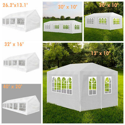 6 Sizes White Outdoor Gazebo Canopy Wedding Party Tent with Removable Walls HOT