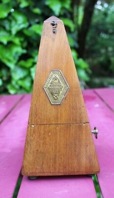 Good Antique Maelzel Paquet French Mahogany Cased Metronome, Working.