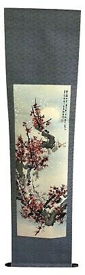 Vintage Japanese Hanging Scroll  Hand Painted Artist Signed Stamped w/ Storage A