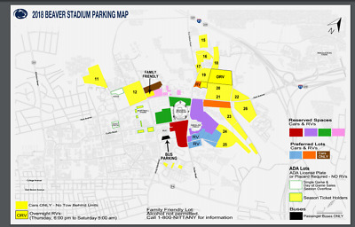 Penn State Vs Maryland Pink Reserved Parking Pass 110 00 Picclick