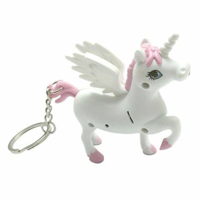 Unicorn Sound LED Light Lamp Torch Keyring Key Chain Kids Toy Party Gift Favor