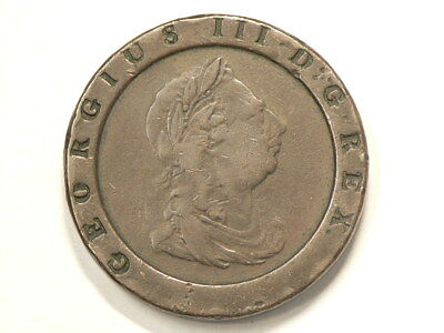 1797 Great Britain 2 Pence Bronze Cartwheel 40mm #895