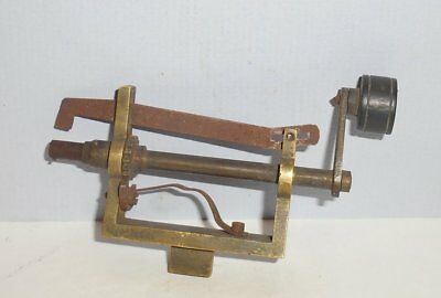 Small Vintage Brass Clock Spring Winder Tool 3 and 5/8 inches