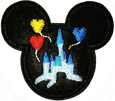 "Mickey Mouse Tada 2.75/"" x 3/"" Logo Sew Ironed On Badge Embroidery Applique Patch"
