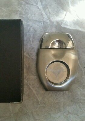 New in box Dalmore stainless steel handheld cigar cutter rare w logo collectible