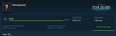 14 YEAR OLD Steam Account! 395 Games, No Bans, $7220 Value!