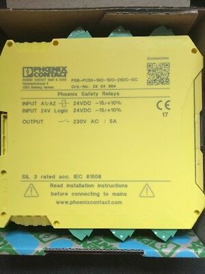 Phoenix Contact Safety Relay PSR-PC50-1NO-1DO-24DC-SC
