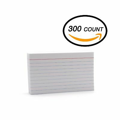 Emraw 300 Sheets White Index Cards - Durable Ruled Index Cards, note cards pe...