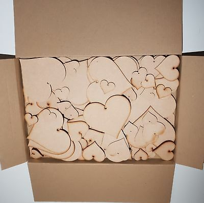 Clearance Huge Wholesale joblot cut wooden Mdf Love Heart Craft Shapes Tags SF1