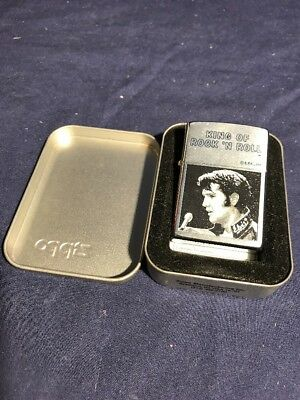 Elvis Presley Zippo Lighter King of Rock 'N Roll  2000 Brand New