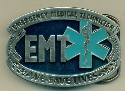 Belt Buckle - Vintage - Metal - Emt - Emergency Medical Technician #2
