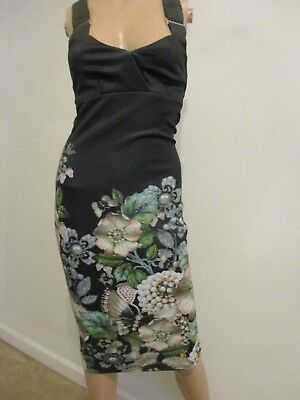 fcc7ed772ec49c Nwot Ted Baker London Jayer Gem Garden Bodycon Dress 0 (U.s.2)