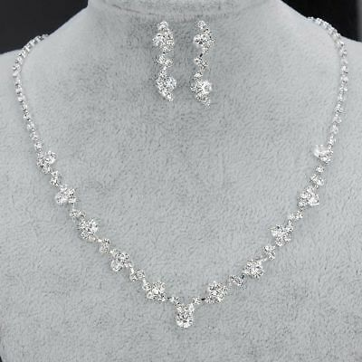 Bridal Wedding Accessories Earring Necklace Set Jewelry Set