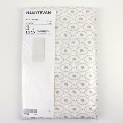 New Ikea Hjartevan Crib Baby Duvet Cover Pillowcase Elephants