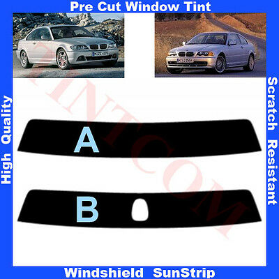 Pre Cut Window Tint Sunstrip for BMW 3 Series E46 Coupe 2D 1999-2005 Any Shade
