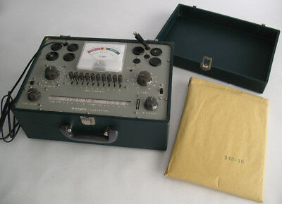 Knight 600A Tube Tester w/ Instructions Diagrams & More Complete & Working