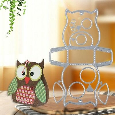 Owl Candy Treat Box Metal Cutting Dies Stencil Scrapbooking Embossing Card Craft