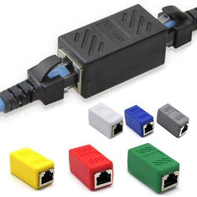 RJ45 Network Ethernet LAN Cable Joiner Coupler Connector Adaptor Repeater EU