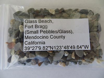 California 2 different Glass Beach  (Glass/Pebbles) and Natural Beach Sand