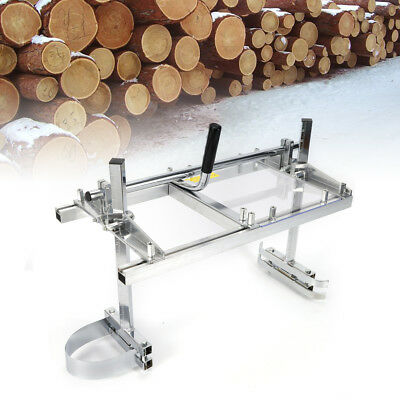 """Portable Chainsaw Mill Planking Milling 14"""" to 24"""" Guide Bar Wood Timber Cutting"""