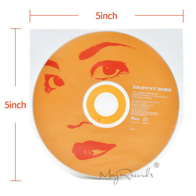 50 Clear Antistatic 3 Mil Plastic CD Inner Sleeves For 5inch SHM-CD MIni LP