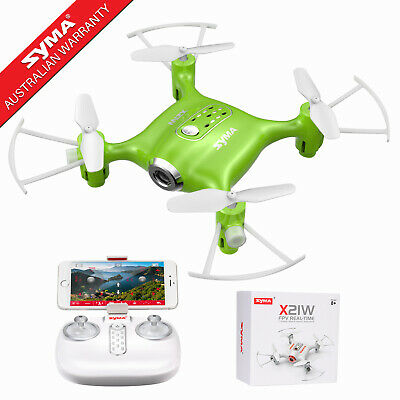 2 Battery Syma X23W RC Quadcopter Drone FPV WIFI Camera 2.4G 4CH 6 Axis Headless