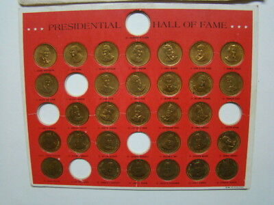 Shell Gas Station Solid Bronze US Presidential Coin Collector's Set 1969