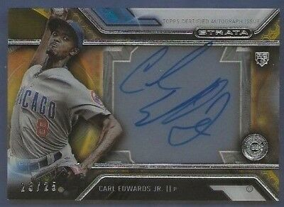 2015 Topps Strata Carl Edwards Jr. Auto Rookie Serial #d /25 Chicago Cubs
