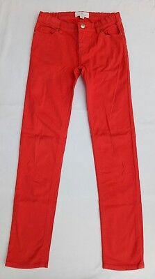 Country Road Girls Jeans Size 10 Red Zip Front Adjustable Elastic Waistband