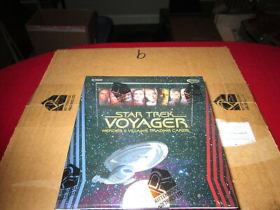 Star Trek Voyager Heroes & Villains  Sealed Case of Cards Rittenhouse Autographs