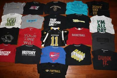 Lot Of 21 Nike Dri-Fit Youth Boys T Shirts Athletic Tees Mizzou Tigers All Large