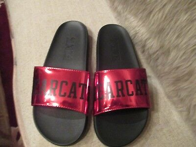 "Victoria's Secret ""PINK"" Bearcats Red Slides, size M. NEW!"