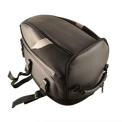 Motorcycle Seat Rear Bag Luggage Tank Saddle Riding Storage Helmet Tail Back