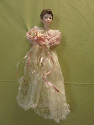 Vintage 1993 Victorian Lady Christmas Ornament In Box
