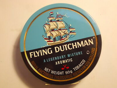 Old Empty FLYING DUTCHMAN Tobacco Ship Picture Tin. VG/Exc.